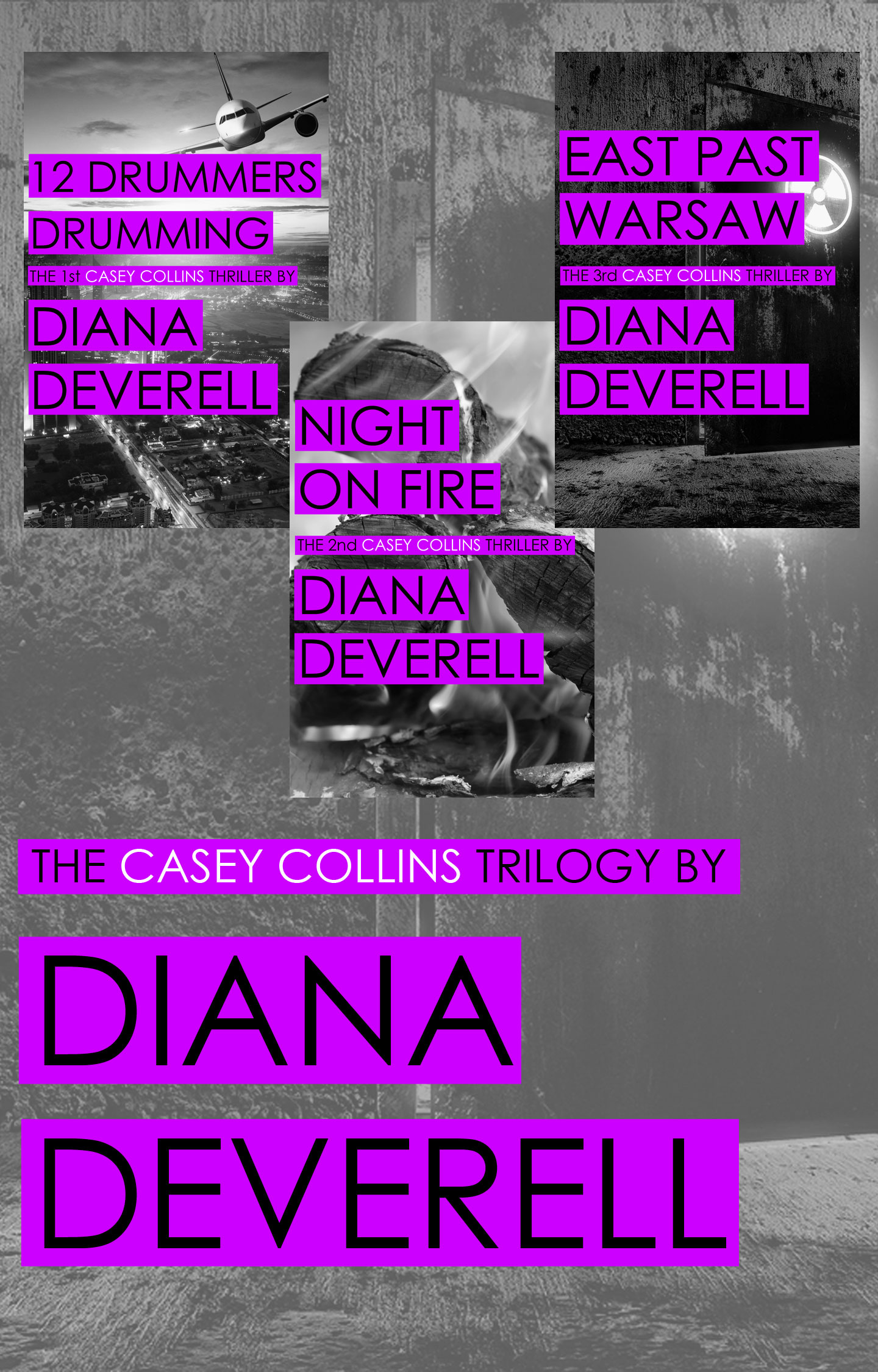 Casey Collins Trilogy by Diana Deverell - Book Cover