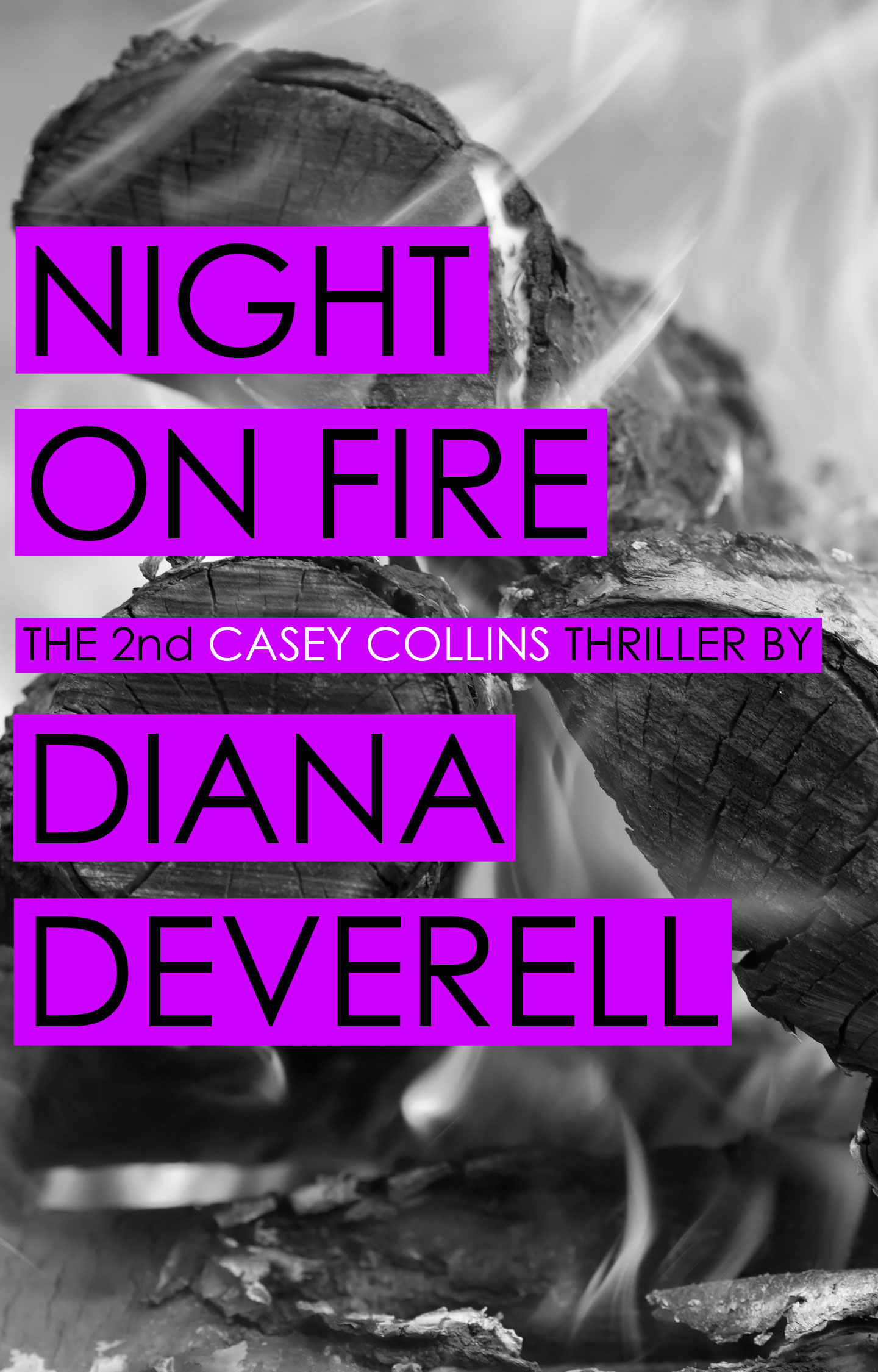 Night on Fire - A Casey Collins Counterterrorism Thriller by Diana Deverell Book Cover
